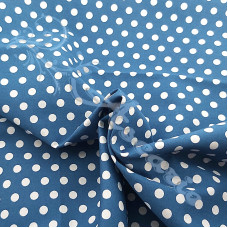 4mm Pea Spot French Navy with White Spot 100% Cotton Fabric