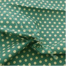 4mm Pea Spot Green with Cream Spot 100% Cotton Fabric