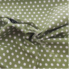 4mm Pea Spot Green with White Spot 100% Cotton Fabric