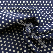 4mm Pea Spot Navy with White Spot 100% Cotton Fabric