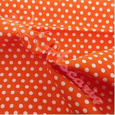 4mm Pea Spot Orange with White Spot 100% Cotton Fabric