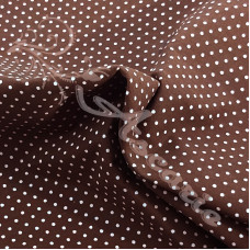 Pin Spot Brown with White 100% Cotton Fabric