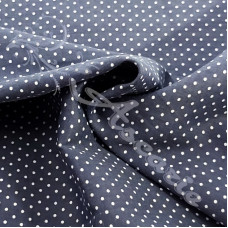 Pin Spot Grey with White 100% Cotton Fabric