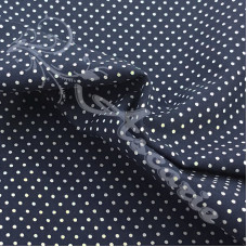 Pin Spot Navy with White 100% Cotton Fabric