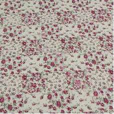 Patchwork Red Flowers 100% Cotton