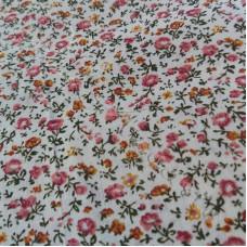 Dusky Pink Floral 100% Cotton
