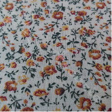 Butterscotch Floral 100% Cotton
