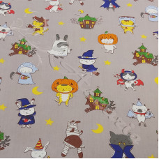 Creepy Cuties Cartoon  100% Cotton Poplin