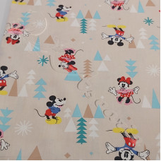 Happy Mice Cartoons  100% Cotton Poplin
