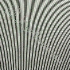 Dark Green Candy Stripe 100% Cotton