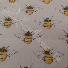 Bees on Cream Rose & Hubble 100% Cotton
