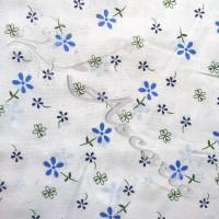 .60cm Ditsy Blue Flowers on white Polycotton