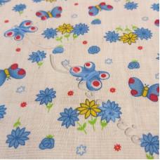 Blue Butterfly's & Daisy's  PolyCotton