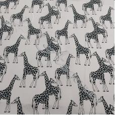 Giraffes on White PolyCotton