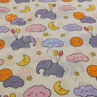 Elephants PolyCotton