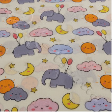Elephants PolyCotton