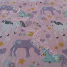 Unicorns on Pink Polycotton