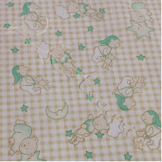 Time for Bed Ted PolyCotton