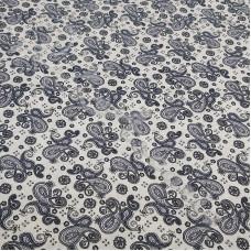 100% Cotton Poplin Paisley Black Design