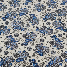 Fat 1/4 Vintage Blue Paisley 100% Cotton Poplin