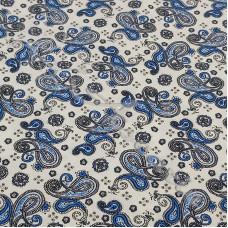 Fat 1/4 Vintage Blue Paisley 100% Cotton Poplin