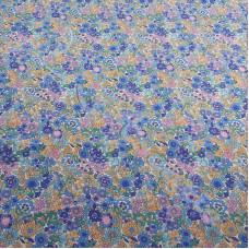 Fat 1/4 Vintage Ditsy Floral Blue 100% Cotton