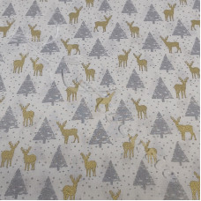 Reindeers in the forest 100% Cotton from Rose & Hubble