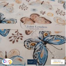 Butterfly's on Cream  100% Cotton John Louden