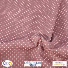 3mm Pink Polka Dot Spot 100% Cotton poplin