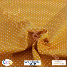 3mm Yellow Polka Dot Spot 100% Cotton poplin