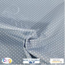 3mm Pale Blue Polka Dot Spot 100% Cotton poplin