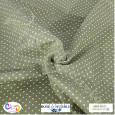 Fat 1/4  3mm Green Polka Dot Spot 100% Cotton poplin