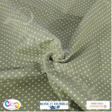 3mm Green Polka Dot Spot 100% Cotton poplin