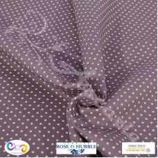 3mm Plum Polka Dot Spot 100% Cotton poplin