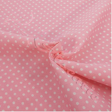 4mm Spot Pink Coloured Polycotton