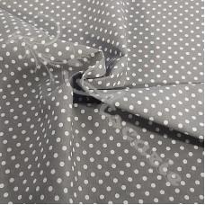 4mm Spot Grey  Coloured Polycotton