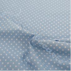 4mm Spot Pale Blue Coloured Polycotton