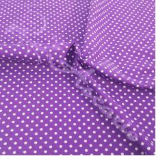 4mm Spot purple Coloured Polycotton
