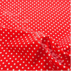 4mm Spot Red Coloured Polycotton