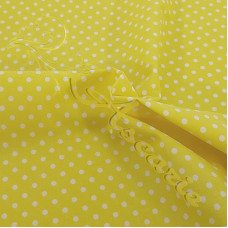 4mm Spot Yellow Coloured Polycotton