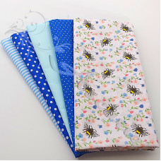 5 Fat Quarter Bundle PolyCotton (P1)