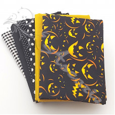 6 Fat Quarter Bundle Halloween 100% Cotton (H1)