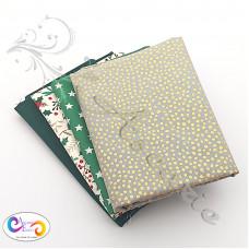 4 Fat Quarter Bundle Christmas 100% Cotton (08)