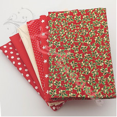 6 Fat Quarter Bundle Christmas 100% Cotton (03)