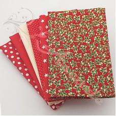 6 Fat Quarter Bundle Christmas 100% Cotton (03)