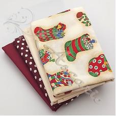 4 Fat Quarter Bundle Christmas 100% Cotton (04)