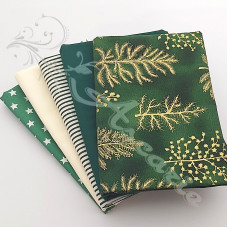 5 Fat Quarter Bundle Christmas 100% Cotton (05)