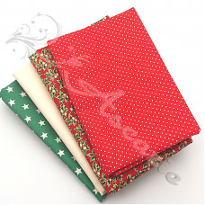 4 Fat Quarter Bundle Christmas 100% Cotton (06)