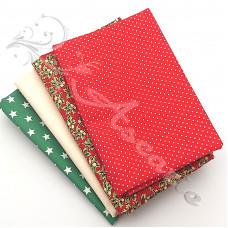 4 Fat Quarter Bundle Christmas 100% Cotton (06)