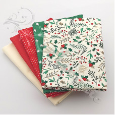 5 Fat Quarter Bundle Christmas 100% Cotton (10)